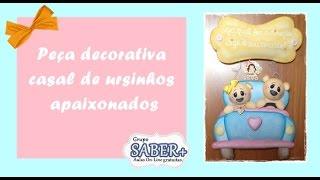 Peça decorativa CASAL DE URSINHOS APAIXONADOS