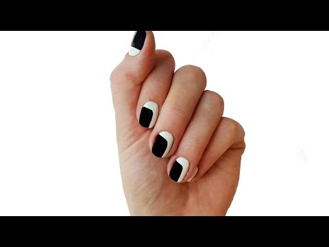 Easy Black and White Nail Designs for Beginners
