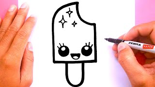 How to draw a cute Ice cream pop, Draw cute things thumbnail