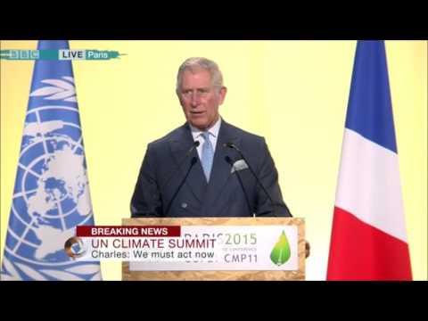 Prince Charles addresses talks UN Climate Summit #COP21 #Climate