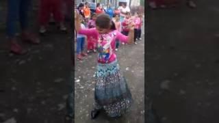 Beauty girl dancing in Arabic song,,,,
