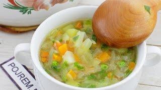Лёгкий овощной суп для тех, кто следит за фигурой
