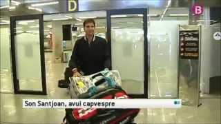 Appendicitis-suffering Rafael Nadal arrives in Mallorca