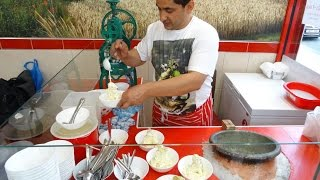 Hand Made Afgan Kulfi Ice Cream (sheer-yakh); Original Afganistan Street Food At Kabul Grill House.