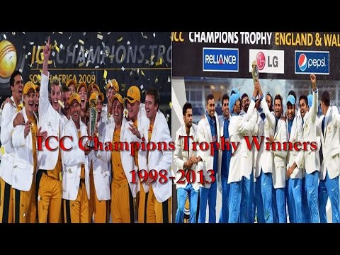 ICC Champions Trophy Winners (1998-2013)