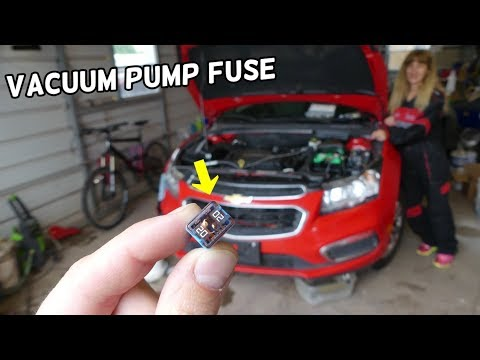 CHEVROLET CRUZE ELECTRIC VACUUM PUMP FUSE LOCATION REPLACEMENT. HARD BRAKE PEDAL FIX