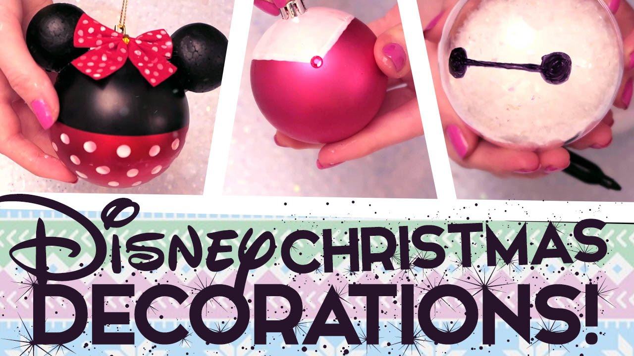 8 super easy diy disney christmas decorations youtube - Disney Themed Christmas Decorations