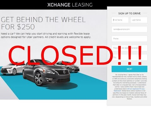 Uber to Discontinue Their Car Leasing Program Due to HUGE Losses!