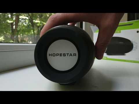 Портативная беспроводная колонка HOPESTAR H27 IPX6 музыкальная с мощным басом - акустическая система блютуз - влагозащищенная с FM-радио и PowerBank - громкая стерео колонка с мощным аккумулятором 2400mAh Black