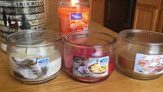 Walmart Candle Reviews! Mainstays and Better Homes and Garden/ March 2018