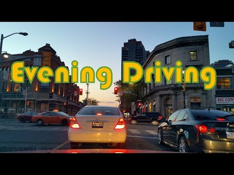 Evening Driving in Toronto - Parkside Drive, Black Creek Drive, Highway 400