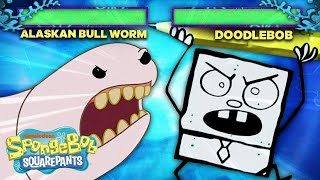 Gary Joins the Battle Video Game Arena!  | SpongeBob SquareOff