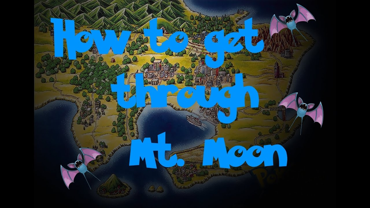 How To Get Through Mt Moon Pokemon BlueRedYellow  YouTube