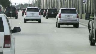 Van attempts to cut off Trump motorcade