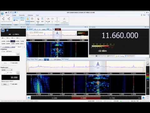 CCW SDR-4+ SDR Console v2 0 beta 1 Radio Australia 11660 in the UK
