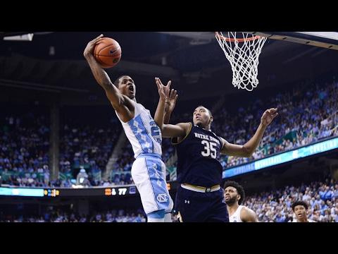 UNC Men's Basketball: Carolina Outlasts Notre Dame, 83-76