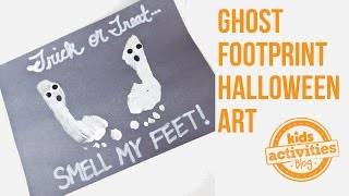 Kids Halloween Art Project -- Make a Footprint Ghost!