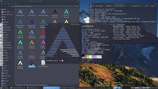 ArcoLinux : 738 how to switch between the ASCII logo and the ArcoLinux logo in Neofetch - TERMITE