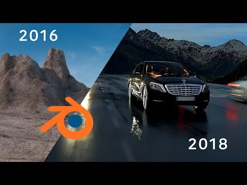 My progression with Blender 3D in 2 years / Blender Demo Reel 2018