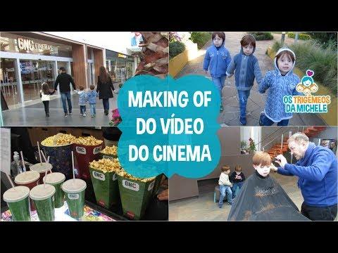 Making of do vídeo do cinema | Os Trigêmeos da Michele