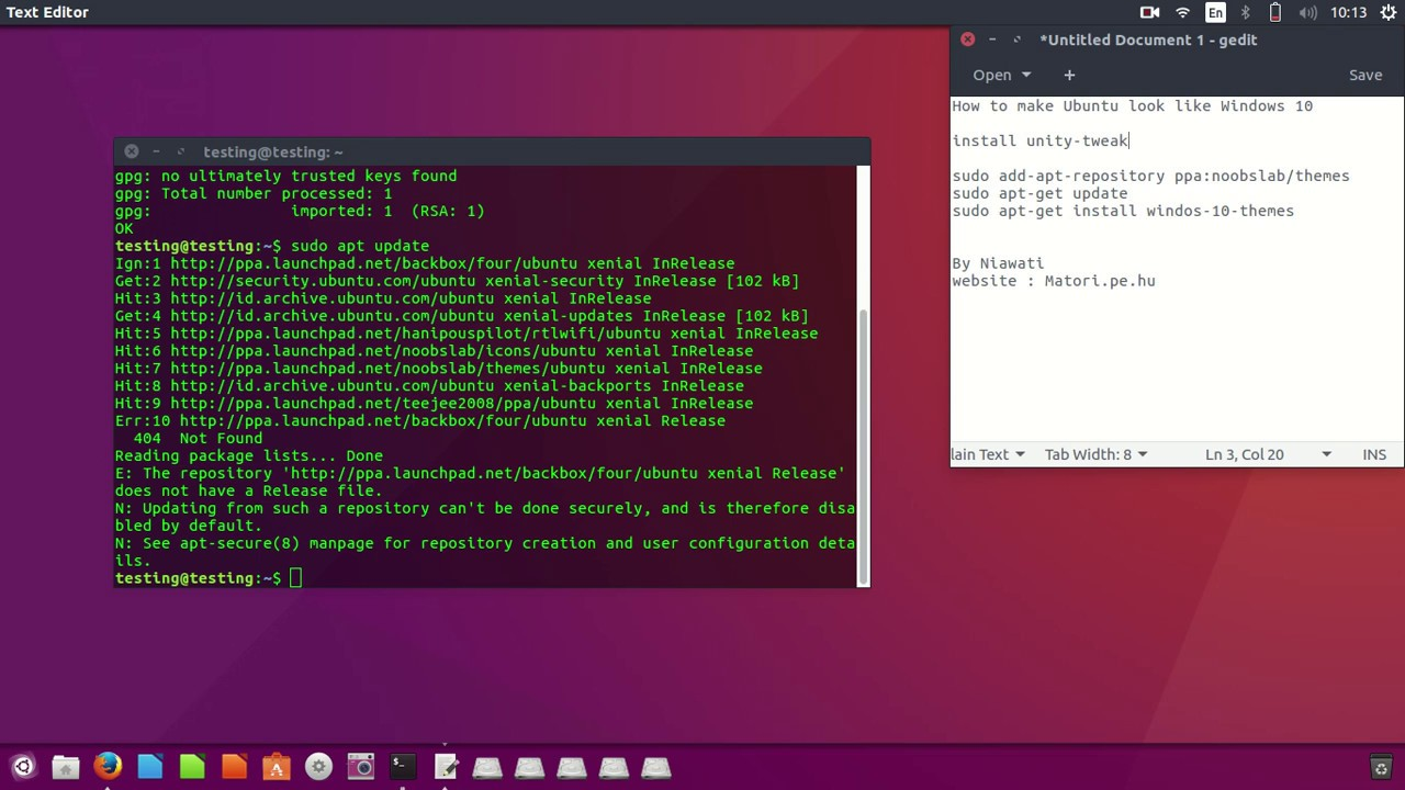 theme ubuntu pour windows 10