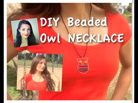 DIY Wire Owl Necklace | How to Make and Wrap Wire Jewelry TUTORIAL