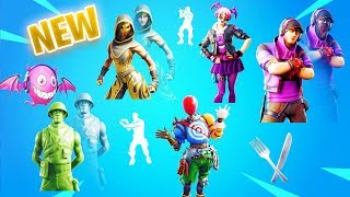 'NEW' LEAKED Skins SCIMITAR, SANDSTORM, ASMODEUS - EXTRATERRESTRIAL Emote - PLUS! Fortnite 9,20