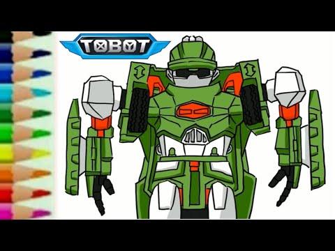 Tobot D Transformers Carbot Rtv Belajar Menggambar Kartun Robot