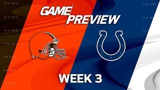 Cleveland Browns vs. Indianapolis Colts | Week 3 Game Preview | NFL