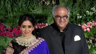 Sridevi With Boney Kapoor At Virat Kohli And Anushka Sharma Reception