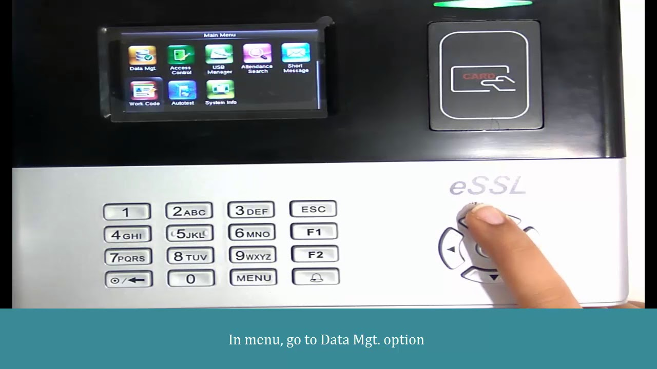 How to clear att logs in eSSL S990