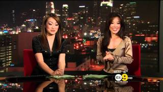 Sharon Tay & Suzie Suh 2011/12/26 10PM KCAL9 HD; satin tops