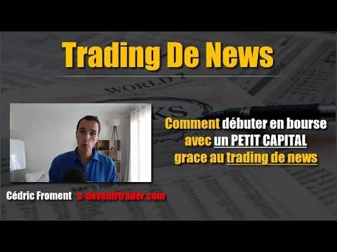 Comment débuter en bourse avec un petit capital (grâce au trading de news)