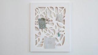 DIY : Decorative noticeboard by Søstrene Grene