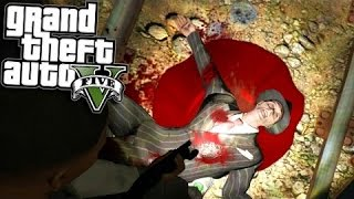 Grand Theft Auto 5 - Hidden Mineshaft With Dead Body! GTA V Online