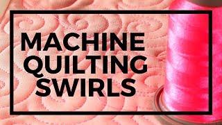 Swirl Meander Machine Quilting Tutorial: Free-motion Challenge