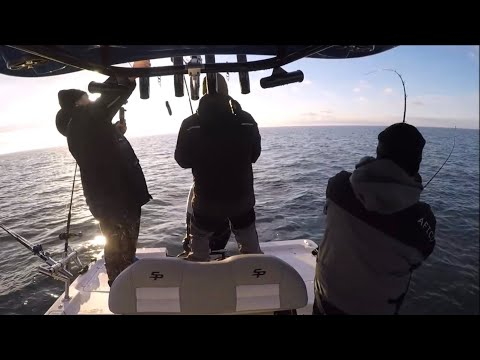 Sea Pro 248 Bay Boat Running Rough Water! Striper Fishing The Northeast!