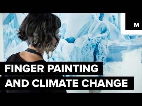 Incredible finger-painting technique