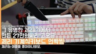유명한 체리(?)에서 만든 27만원짜리 고오급 기계식키보드 언빡씽! 체리는 애플을 좋아하나봐요(Cherry MX Board 8.0 RGB Unboxing)