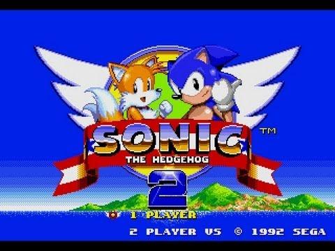 best sege genesis games - Sonic opening scene title