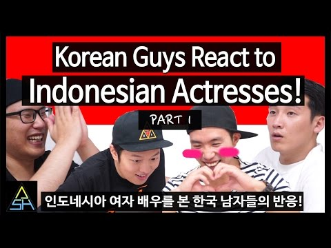 Korean Guys React to Indonesian Actresses #1 [ASHanguk]