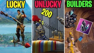 NEW Buliding Material!? LUCKY vs UNLUCKY vs BUILDERS! Fortnite Funny Moments 292