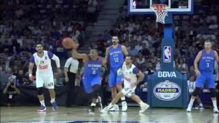 Westbrook Steals, Oladipo Scores   Thunder vs Madrid   October 3, 2016   2016 17 NBA Preseason