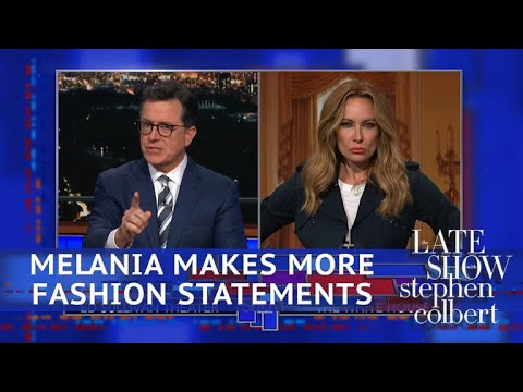 Melania Trump Has An Entire 'Hidden Message' Wardrobe