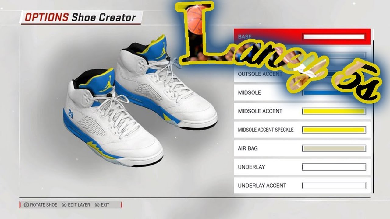 NBA 2K18 SHOE CREATOR TUTORIAL HOW TO MAKE AIR JORDAN 5 LANEY 2013 BEST AIR  JORDAN RETROS IN 2K18