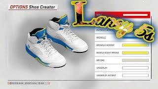 NBA 2K18 SHOE CREATOR TUTORIAL HOW TO MAKE AIR JORDAN 5 LANEY 2013 BEST AIR  JORDAN ... f4df3a028