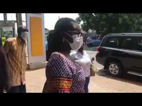 Mrs Ursula Owusu-Ekuful storms MTN Ghana office