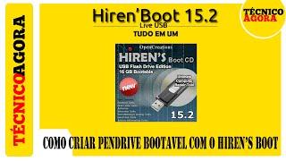 Como criar pendrive bootavel com o Hiren's Boot. #1