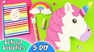 5 DIY Unicorn School Supplies - Back to School | aPasos Crafts DIY