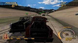 FlatOut: Head On Gameplay Flatout Mode Sunday Smash Derby (PSP)